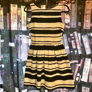 Bar III Black and White Stripe Dress Size Medium